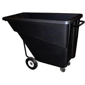 Bayhead Products Black Medium Duty 5/8 Cubic Yard Tilt Truck 1000 Lb. Capacity