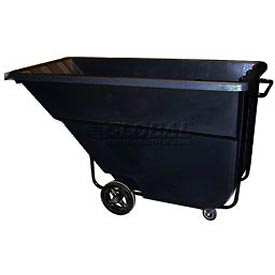 Bayhead Products Black Medium Duty 1.1 Cubic Yard Tilt Truck 1200 Lb. Capacity