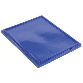 Lid LID241 for Plastic Shipping Containers - Stackable & Nesting SNT240, Blue - Pkg Qty 3