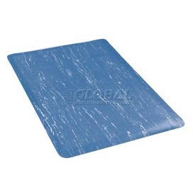 Marbleized Top 24 Inch Wide Mat Blue
