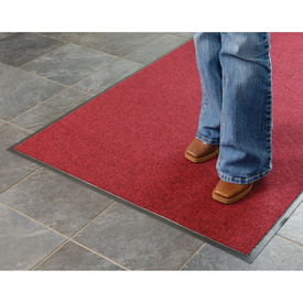 Absorbent Ribbed Mat 72 Inch Cut Size Red/Black