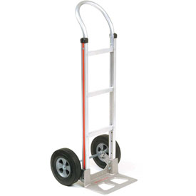 Magliner® Aluminum Hand Truck Curved Handle Semi-Pneumatic Wheels