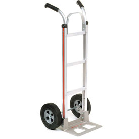 Magliner® Aluminum Hand Truck Double Handle Semi-Pneumatic Wheels