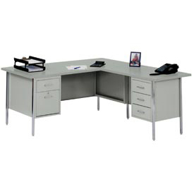 "MBI - L-Desk With Right Return - 72"" x 66"" - Gray/Gray Top"