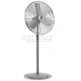 TPI 294545,24 Inch Pedestal Fan Non Oscillating Gray 1/2 HP 5600 CFM 1 PH Totally Enclosed Motor