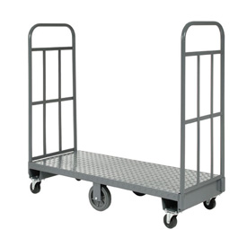Best Value Steel Deck Narrow Aisle High End U-Boat Platform Truck 60 x 24 1500 Lb. Capacity