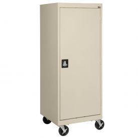 Sandusky Mobile Storage Cabinet TA3R242460- 24x24x66, Putty