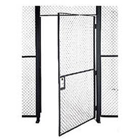 Husky Rack & Wire EZ Wire Mesh Partition Hinged Door - 4'Wx8'H