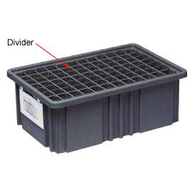 Quantum Conductive Dividable Grid Container Long Divider - DL93120CO, Sold Pack Of 6