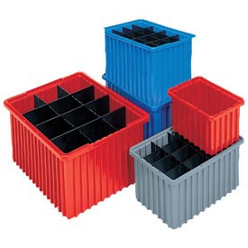 Akro-Mils Akro-Grid Dividable Container 33166 16-1/2 x 10-7/8 x 6 Blue - Pkg Qty 8