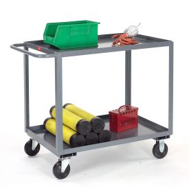 Jamco Gray All Welded 2 Shelf Stock Cart SB236 36 x 24 1200 Lb. Capacity