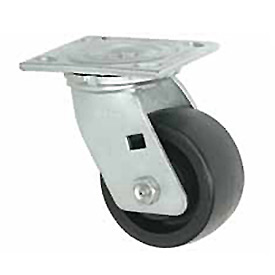 "Faultless Swivel Plate Caster 1465W-4 4"" Thermoplastic Wheel"