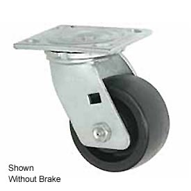 "Faultless Swivel Plate Caster 1465W-6RB 6"" Thermoplastic Wheel with Brake"