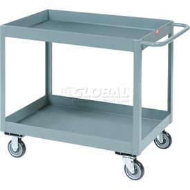 "Jamco Gray All Welded 3"" Deep Shelf Cart LT130 1200 Lb. Capacity 30x18"