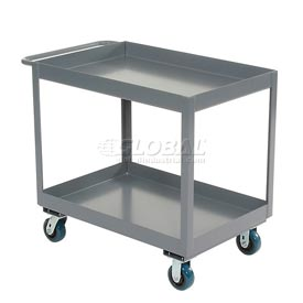 "Jamco Gray All Welded 3"" Deep Shelf Cart LT236 2400 Lb. Capacity 36x24"