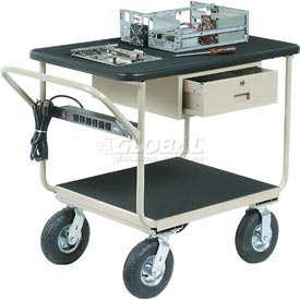 "Deluxe Instrument Cart 48 x 24 With 8"" Casters"