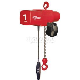 Coffing Little Mule Electric Chain Hoist with Chain Container 1000 lb. Capacity