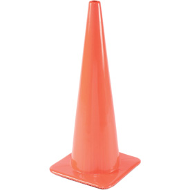 "28"" Traffic Cone W/ Custom Imprinting, Non-Reflective, Orange, 10 lbs, 2825-10-L - Pkg Qty 50"