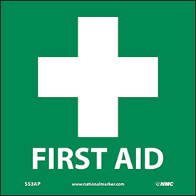 Graphic Facility Signs - First Aid - Vinyl 4x4