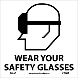 Graphic Facility Signs - Wear Your Safety Glasses - Vinyl 4x4