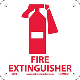 Graphic Facility Signs - Fire Extinguisher - Plastic 7x7