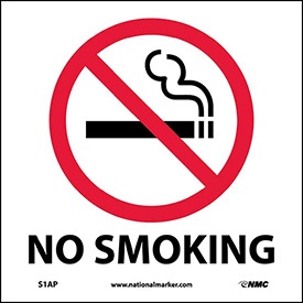 Graphic Facility Signs - No Smoking - Vinyl 4x4
