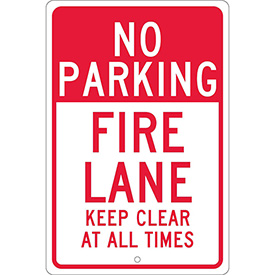 Aluminum Sign - Fire Lane Keep Clear - .063mm Thick