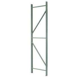 "Interlake Mecalux Pallet Rack Tear Drop Upright Frame 42""D x 216""H"