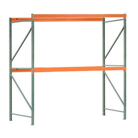 "Interlake Mecalux Pallet Rack Tear Drop Starter 96""W x 48""D x 144""H"