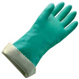 Flock Lined X-Large Nitrile Gloves - 22 Mil Size 10 - 1 Pair