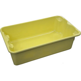 """Molded Fiberglass Nest and Stack Tote 780208 - 17-7/8"""" x10""""-5/8"""" x 5"""" Yellow - Pkg Qty 12"""