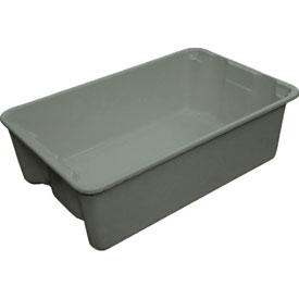 "Molded Fiberglass Toteline Nest and Stack Tote 780308 - 19-3/4"" x 12-1/2"" x 6"", Pkg Qty 10, Gray - Pkg Qty 10"