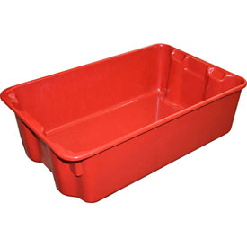 "Molded Fiberglass Nest and Stack Tote 780308 - 19-3/4"" x 12-1/2"" x 6"" Red - Pkg Qty 10"