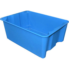 "Molded Fiberglass Nest and Stack Tote 780608 - 25-1/4"" x 18"" x10"", Pkg Qty 5, Blue - Pkg Qty 5"