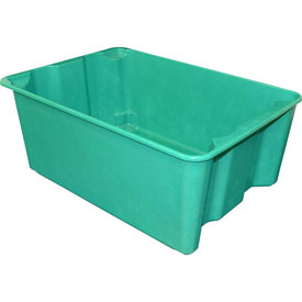 "Molded Fiberglass Nest and Stack Tote 780608 - 25-1/4"" x 18"" x10"", Pkg Qty 5, Green - Pkg Qty 5"