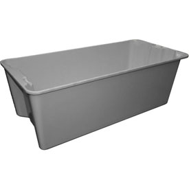 """Molded Fiberglass Nest and Stack Tote 780008 with Wire - 42-1/2"""" x 20"""" x 14-1/4"""", Gray"""