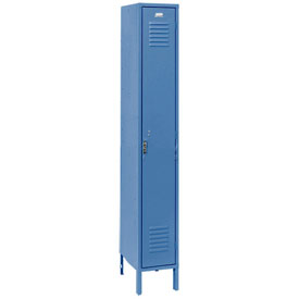 Penco 6111V-1-806SU Vanguard Locker Pull Latch Single Tier 12x12x60 1 Door Assembled Marine Blue