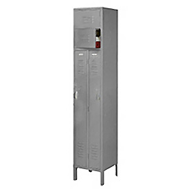 Penco 6501V-1028-KD VanGuard Two Person Locker 15x15x72 Ready To Assembled 1 Wide Gray