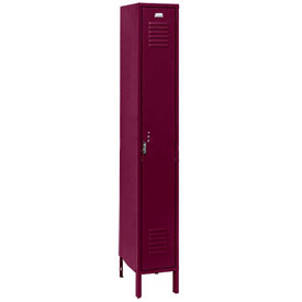 Penco 6115V-1-736-KD Vanguard Locker Pull Latch Single Tier 12x18x60 1 Door Unassembled Burgundy