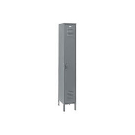 Penco 6173V-1-028KD Vanguard Locker Pull Latch Single Tier 15x18x72 1 Door Unassembled Gray