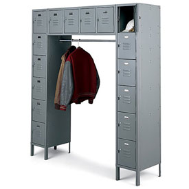 Penco 68231X-028-KD VanGuard Locker 16 Person 72x18x72 16 Doors Ready To Assemble Gray