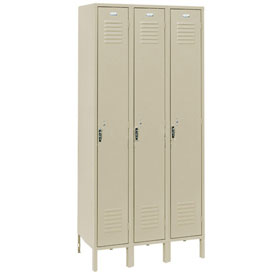 Penco 6161V-3-073-SU Vanguard Locker Pull Latch Single Tier 12x12x72 3 Doors Assembled Champagne