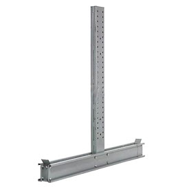 "Cantilever Rack Double Sided Upright, 65"" D x 10' H, 42600 Lbs Capacity"