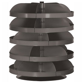 "Durham 34"" Diameter Rotabin® Revolving Parts Storage Shelving Center 1305-95 - 5 Shelves"