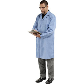 Unisex Microstatic ESD Lab Coat - Blue, M