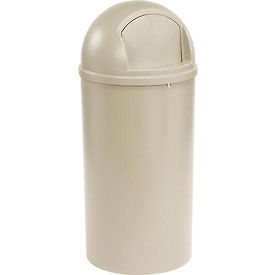25 Gallon Rubbermaid Marshal Waste Receptacles - Beige