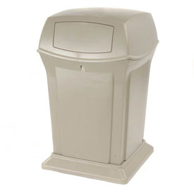 Rubbermaid Ranger® 45 Gallon 2 Door Outdoor Trash Can - Beige 9171-88