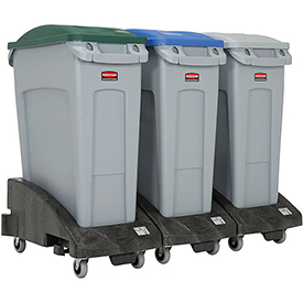 rubbermaid slim jim recycling center containers trolleys and lids