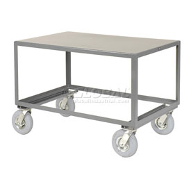 Jamco All Welded Portable Steel Table LV248 1 Shelf 48x24 1200 Lb. Capacity