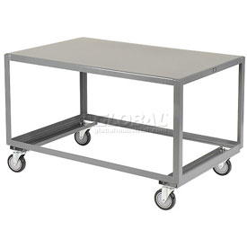 Jamco All Welded Portable Steel Table LV472 1 Shelf 72x36 1200 Lb. Capacity